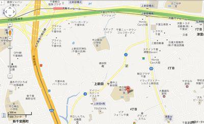 新田南小学校の地図